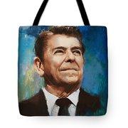 Ronald Reagan Portrait 6 Tote Bag