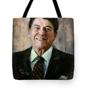 Ronald Reagan Portrait 7 Tote Bag by Corporate Art Task Force