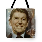 Ronald Reagan Portrait Tote Bag by Corporate Art Task Force