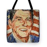 Ronald Wilson Reagan Mosaic Tote Bag