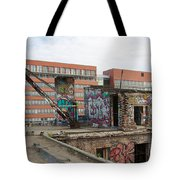 Roof Of The Alte Eisfabrik Ruin In Berlin Tote Bag