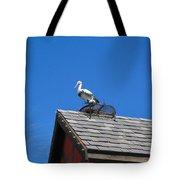 Roof Top Bird Tote Bag