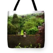 Roof Tops In Countryside Scenery With Trees - Peak District - England Tote Bag
