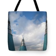 Rooftop Towers At Museum Of Technology Tote Bag