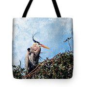 Rookery Great Blue Tote Bag