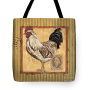 Rooster And Stripes Tote Bag