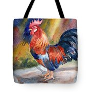 Rooster At Sunrise Tote Bag