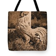 Rooster At The Big Chicken Barn Tote Bag