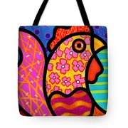 Rooster Dance Tote Bag