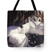 Rooster In Deep Snow Tote Bag