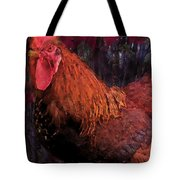 Rooster In October Tote Bag