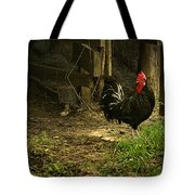 Rooster In The Hen House Tote Bag