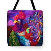 Rooster On The Horizon Tote Bag