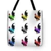 Rooster Pop Art- 4602 - Wb - M - Modern Animal Art Tote Bag
