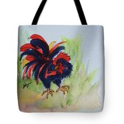 Rooster - Red And Black Rooster Tote Bag
