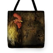 Rooster With Brush Calligraphy Loyalty Tote Bag