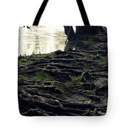 Roots On White River Tote Bag