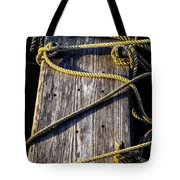 Rope And Wood Sidelight Textures Tote Bag