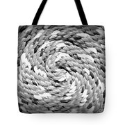 Rope Black And White Tote Bag