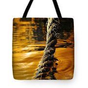 Rope On Liquid Gold Tote Bag