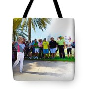 Rory Mcilroy - The Third Round Of The Omega Dubai Desert Classic Tote Bag