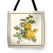 Rosa Sulfurea -yellow Rose  Square Tote Bag
