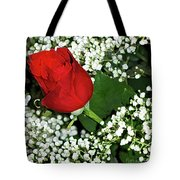 Rose And Baby's Breath Tote Bag