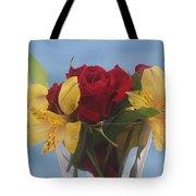 Rose And Peruvian Lilies Tote Bag