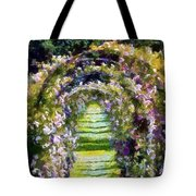 Rose Arch In Summer Sunshine Tote Bag
