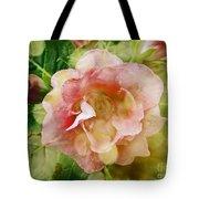 Rose Begonia In Pink Tote Bag