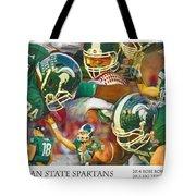 Rose Bowl Collage Tote Bag