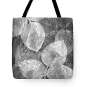 Rose Clippings Mural Wall 2 - Black And White Tote Bag