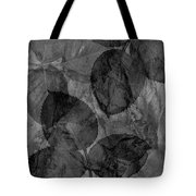 Rose Clippings Mural Wall - Black And White Tote Bag