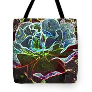 Rose Colorized Outline Tote Bag