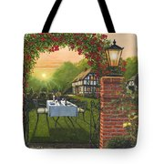 Rose Cottage - Dinner For Two Tote Bag