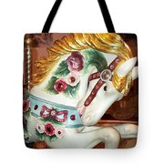 Rose Covered Pony Tote Bag