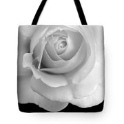 Rose Flower Macro Black And White Tote Bag