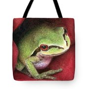 Rose Frog Tote Bag