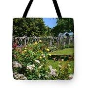 Rose Garden And Trellis Tote Bag