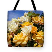 Rose Garden Art Prints Yellow Orange Rose Flowers Tote Bag