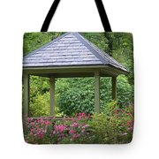 Rose Garden Gazebo Tote Bag