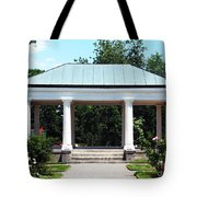 Rose Garden Pergola In Delaware Park Buffalo Ny Oil Painting Effect Tote Bag