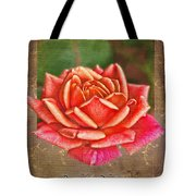 Rose Greeting Card Birthday Tote Bag