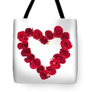 Rose Heart Tote Bag