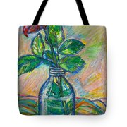 Rose In A Bottle Tote Bag