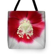 Rose Mallow - Honeymoon White With Eye 03 Tote Bag