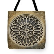 Rose Of The Cathedral Of San Giusto Tote Bag