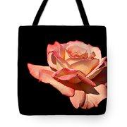 Rose On Black Background Tote Bag