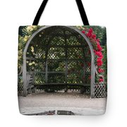 Rose Pavilion At Chateau Villandry Tote Bag