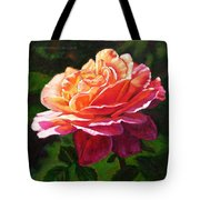 Rose Petals Catching Sunlight Tote Bag